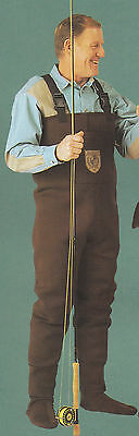 Men Walnut Brown Neoprene Fishing/Hunting Stocking Foot Wader Sz 2XL