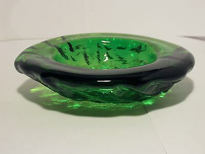 Blenko Emerald Green Free Form Bowl/Ashtray