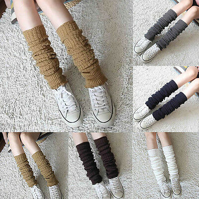 Women Amazing Nice Winter Leg Warmers Long Socks Knit Legging Boot Stocking Hot
