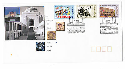 1991 IN MEMORY OF THOSE WHO SERVED 1941 - 1991  First Day Cover