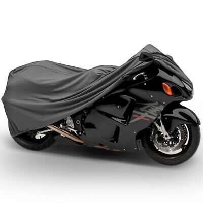 """Motorcycle Dust Cover Grey Large 90"""" Length Indoor Winter Storage Protection"""