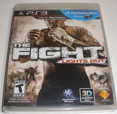 Ps3 The Fight Lights Out Factory Sealed brand new