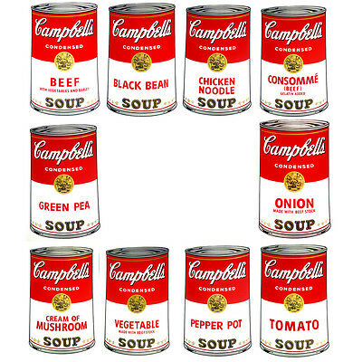 ANDY WARHOL Pop Art Sunday B Morning Campbell's portfolio 10 Screen prints + COA