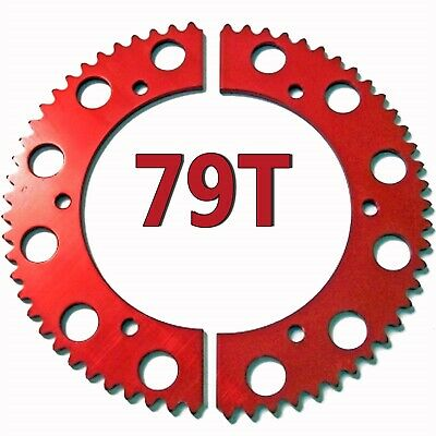 79T Tooth #35 Chain Split Sprocket Two 2 Piece Gear Racing Go Kart Drift Trike