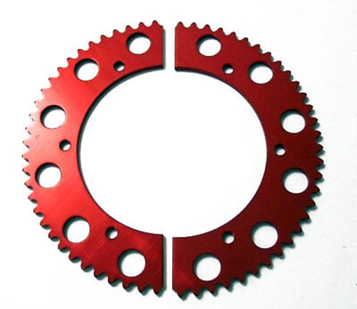 65T Tooth #35 Chain Split Sprocket Two 2 Piece Gear Racing Go Kart Drift Trike
