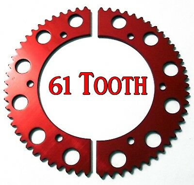 61T (tooth) #35 Chain Split Sprocket Racing Go-Kart Fun Cart Barstool Gear RLV