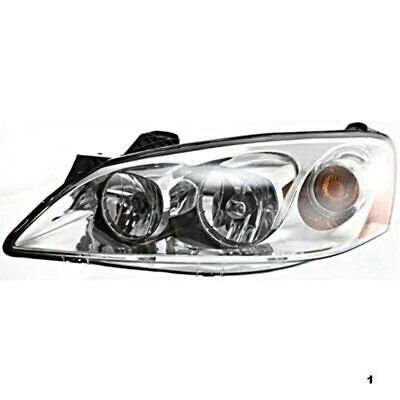 Fits 05-10 Pont. G6 Left Driver Headlamp Assembly w/amber signal