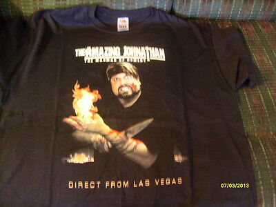 NEVER WORN  AMAZING JOHNATHON SIGNED BY HIM AND HIS WIFE REAL AUTOGRAPHS T SHIRT