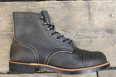 "NEW MEN RED WING 8116 6"" IRON RANGER CAP TOE LEATHER BOOT CHARCOAL FREE SHIPPING"