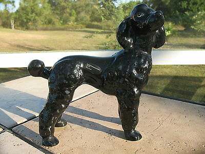 COOPERCRAFT LARGE BLACK POODLE FIGURINE WITH LABEL ATTACHED