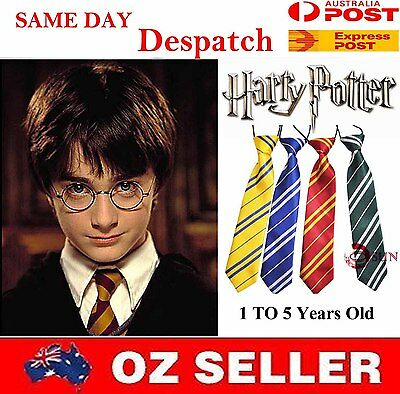 Harry Potter Costume Elastic Neck Tie Necktie Boys Kids Toddler 1 to 5 Years Old