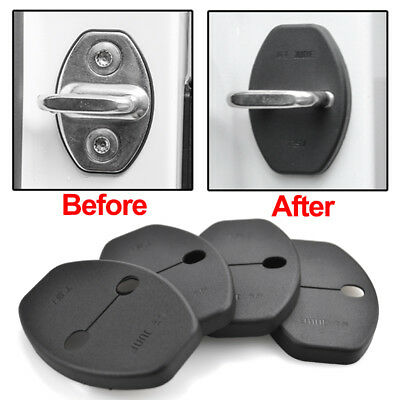 Fit For 14- Skoda Octavia Rapid Superb Door Lock Buckle Catch Cover Case Cap 4Pc