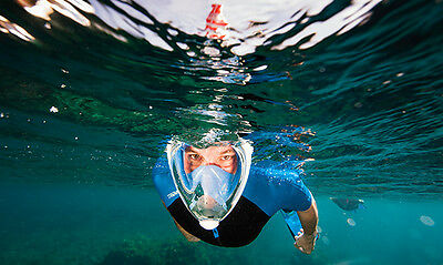 Tribord Easybreath Blue scuba snorkeling mask  L/XL SHIPS FROM FLORIDA