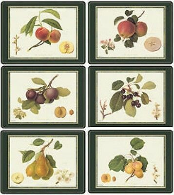 Queens Hookers Fruit 6 Placemats (By Pimpernel) Bnib