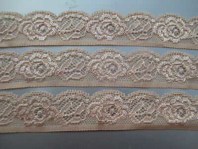 Beautiful! 5 yards of complexion elastic lace embroidered peony flower pattern