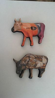 Two Cows on Parade magnets, Cow-to Book and No. 2 Cow