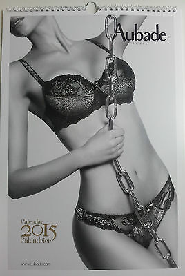 Calendrier AUBADE 2015 lingerie photo sexy pin up érotisme charme