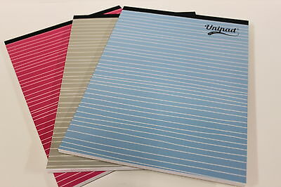 A4 UNIPAD.'160 PAGE' REFILL PAD. 60gsm PAPER. BLUE, PINK, GREY COVER AVAILABLE.