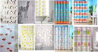 Animal Design Bathroom Shower Curtains Curtain With Hooks Standard Size180X180Cm