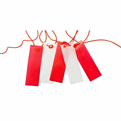 Caution Marker Hazard Bunting Rope Hanging Safety Pendant Flag Red / White - 26m