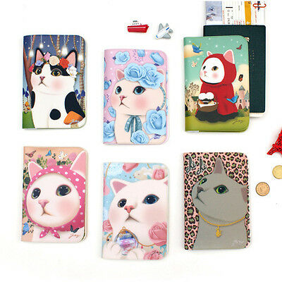 1x Jetoy Choo Choo Kitty Cat Passport Holder Cover Travel Wallet Purse Card Case