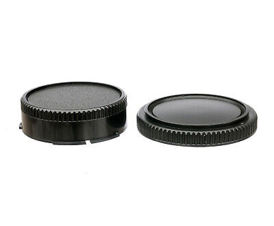 Lens Rear Cap and Body Cap for Canon FD Camera as FD F-1N A1 T-90 AE-1P FL
