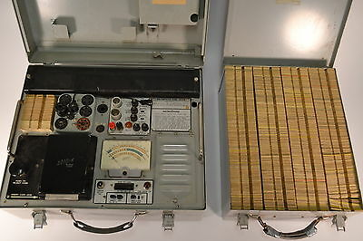 Vintage Hickok Cardmatic Tube Tester KS-15874-L2 with Cards and Card Case