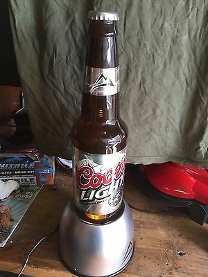 """Coors light sign. 20"""" Tall Bottle That Lites Up."""