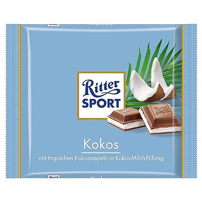 15 x 100g pack Ritter Sport Coconut Chocolade NEW and fresh from Germany