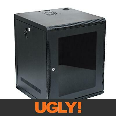 "12U 12RU Server Network Data Rack LAN Cabinet 19"" 19 Inch Wall Mount 508mm Deep"