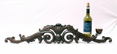The Most Graceful Elegant Carved Mahogany Architectural Pediment