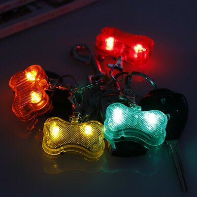 Dog Flashing Clip On Collar Led Light Charm Id Tag Flash Or Glow Modes 8 Colors