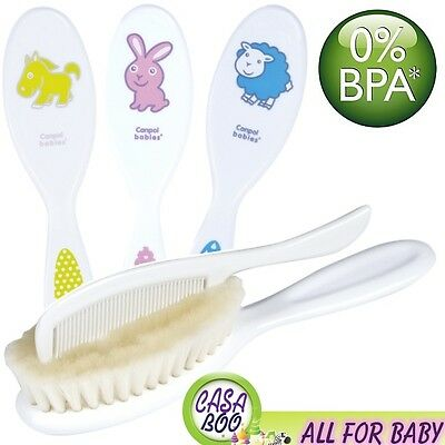 Soft  Bristle Baby Hair brush & Comb Set, for your Newborn Baby NEW  free BPA