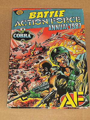BATTLE ACTION FORCE ANNUAL (1987) Massive Misprinting Error - RARE!!
