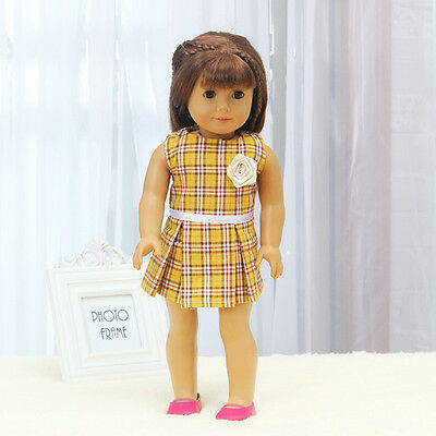 、Hot Handmade lovely dress clothes for 18 inch American Girl Doll b73