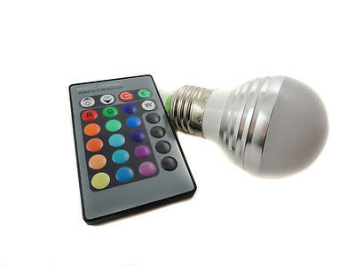 RGB IR Bulb E27 LED light lamp With Remote Controller Magic Lighting 16 Colors