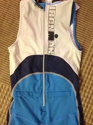 Triathlon Cycle Swim Run Ironman Ladies BODYSUIT Size Small Blue Nwt
