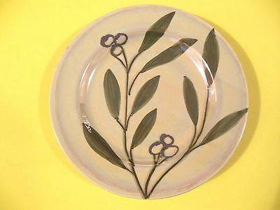 """THE CELLAR 1999 OLIVE BRANCH SALAD PLATE  8 3/4"""" HANDPAINTED, MADE IN ITALY"""