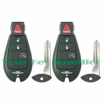 2 Replacement Keyless Entry Remote Key Fob Transmitters