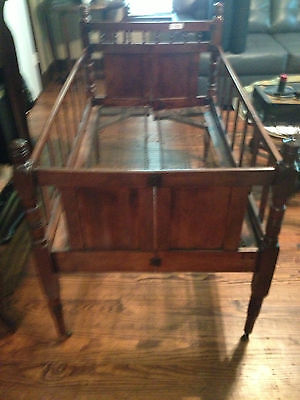 Antique Wooden Baby Folding Bed:  Called Stagecoach Bed