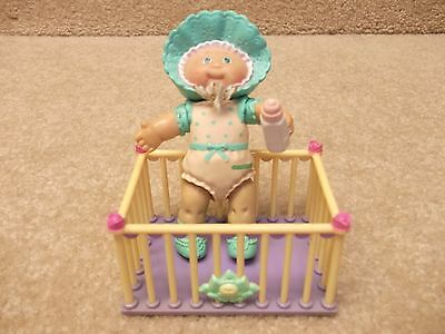 Vintage 1984 Miniature Mini Cabbage Patch Kids Figure with Crib