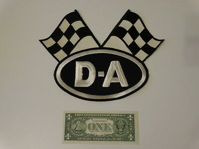 Vintage 1960s DA OIL Checker Flag Patch Classic Racing Hot Rod Deadstock New Old