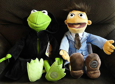 """NEW Disney Kermit the Frog CONSTANTINE and WALTER Plush Dolls MUPPETS Toys 17"""""""