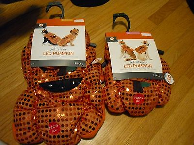 New ! Pet Costume LED Pumpkin for Cat or Dog Size S XS