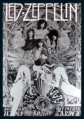 Led Zeppelin Madison Sq Garden Repro Tour Poster