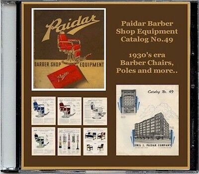 Paidar Barber Shop Equipment Catalog No. 49 on CD - Barber Chairs, Poles, more