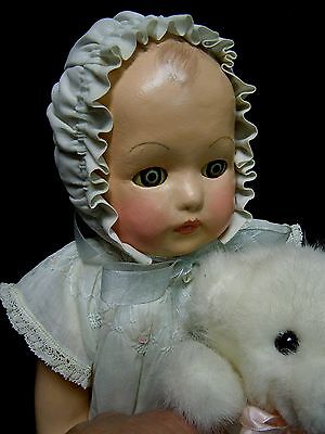Vintage  Composition  Baby Doll  1920's - 30's   Restored - Precious!