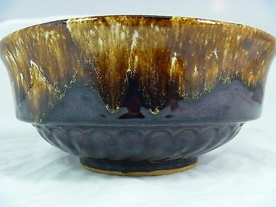 Vintage Robinson Ransbottom Pottery RRP Co Roseville OH Brown Drip Bowl