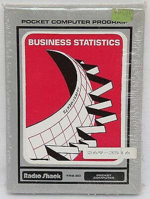 Radio Shack TRS-80 Pocket Computer Software Business Statistics *New and Sealed*