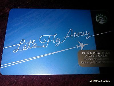 "Starbucks ""Lets Fly Away"" 2014 Gift Card Collectible"
